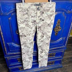 Wit & Wisdom Skinny Leg Floral Print Jeans Sz 6